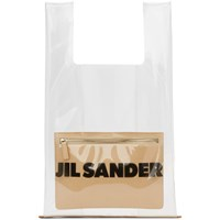 Jil Sander Transparent And Beige Market Tote