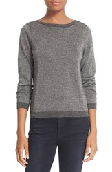 Equipment Women's 'Calais' V Back Metallic Wool Blend Sweater