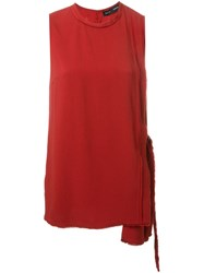 Proenza Schouler Draped Asymmetric Tank Top Red