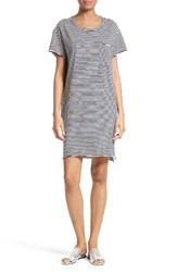 Atm Anthony Thomas Melillo Women's Stripe Slub Jersey Boyfriend Dress