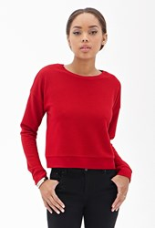 Forever 21 Ribbed Crew Neck Top