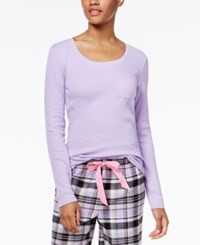 By Jennifer Moore Ribbed Pajama T Shirt Only At Macy's Lilac