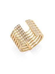 Melissa Kaye Izzy Diamond And 18K Yellow Gold Open Ring