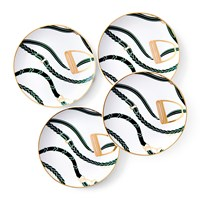 Ralph Lauren Home Amory Canape Plate Set Of 4 Green