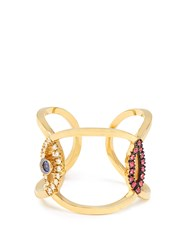 Delfina Delettrez Diamond Ruby Sapphire And Yellow Gold Ring