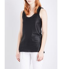 Ann Demeulemeester Leather Vest Black