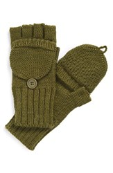 Women's Echo Pop Top Gloves Green Olive Dab Heather