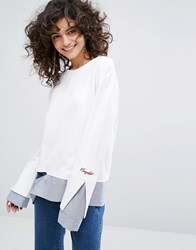 Evidnt Two In One Top With Sleeve Detail Multi