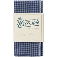 The Hill Side Covert Gingham Chambray Pocket Square Blue