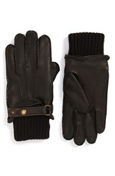John W. Nordstromr Men's Nordstrom Knit Cuff Leather Gloves