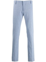 Entre Amis Spotted Tailored Trousers Blue
