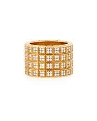 Chopard Ice Cube 18K Four Row Diamond Pave Band Ring Size 7.5