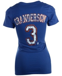 5Th And Ocean Women's Short Sleeve Curtis Granderson New York Mets Sugar Player T Shirt Royalblue