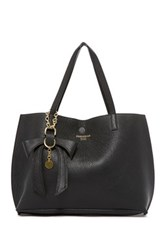 Persaman New York Delila Leather Tote N' Convertible Clutch Black