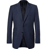 Tom Ford Blue O'connor Slim Fit Wool Suit Jacket Navy