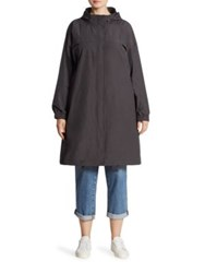 Eileen Fisher Organic Cotton Blend Coat Graphite
