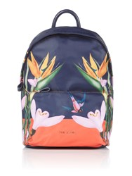 Ted Baker Tropical Oasis Print Sports Backpack Navy