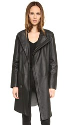 Pure Dkny Bonded Leather Jacket Black