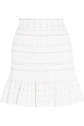 Alexander Mcqueen Knitted Mini Skirt White