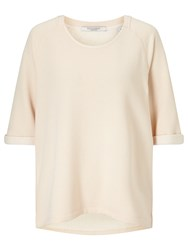 Maison Scotch Home Alone Loose Fit Sweatshirt Rose White
