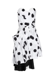 Marc By Marc Jacobs Blurred Dots Print Strapless Dress