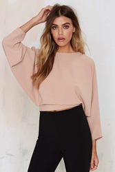 Nasty Gal Leonore Dolman Crop Top