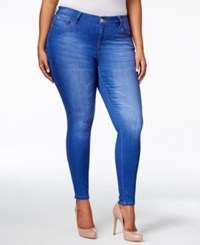 Celebrity Pink Trendy Plus Size Super Soft Skinny Jeans Blue Lagoon