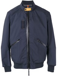 Parajumpers Patch Detail Bomber Jacket Blue