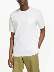 John Lewis And Co. Tahoe Cotton Linen Short Sleeve Pocket T Shirt White