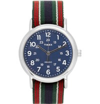 Timex Weekender Stainless Steel And Webbing Watch Blue