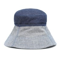 Lola Hats Cuffed Denim Bucket Hat Blue