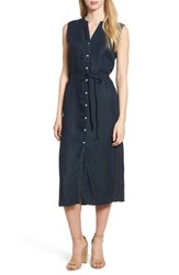 Dl1961 Lispenard Sleeveless Shirtdress Washed Black Over Dye
