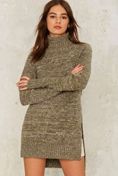 Off Campus Turtleneck Sweater Green