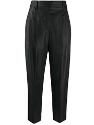 Brunello Cucinelli Cropped High Rise Trousers Black