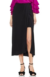 Vince Camuto Twist Tie Front Maxi Skirt Rich Black