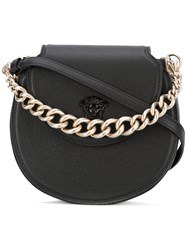 Versace Palazzo Curved Crossbody Bag Black