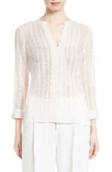Elizabeth And James Women's Riley Embroidered Silk Blouse