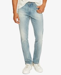 Kenneth Cole Reaction Men's Slim Fit Light Indigo Faded Jeans