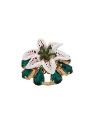 Dolce And Gabbana Floral Ring White