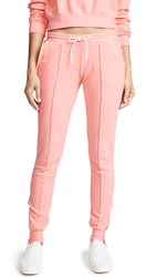 Cotton Citizen The Milan Joggers With Ankle Zips Pastel Coral