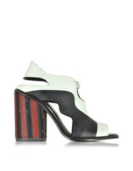 Proenza Schouler Color Block High Heel Sandal Black White
