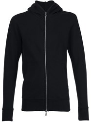 John Elliott Zip Up Hoodie Black