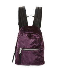 French Connection Jace Small Velvet Backpack Purple