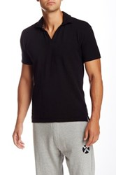 Panda Diplomacy V Neck Polo Black