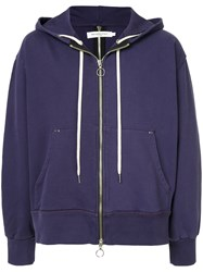 Mr. Completely Double Zipper Hoodie Pink And Purple