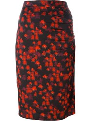 Givenchy Abstract Print Skirt Red