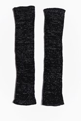 Boohoo Serena Fingerless Long Mittens Black