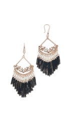 Theia Jewelry Valencia Chandelier Earrings Navy Clear