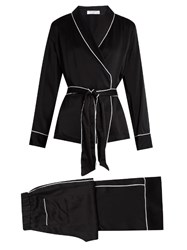 Equipment Odette Silk Satin Pyjama Set Black