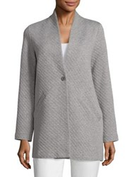 Eileen Fisher Diamond Quilted Long Jacket Moon